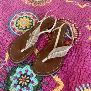 Carlos rose gold sandals, size 8